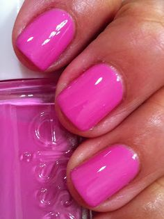 "Essie A Splash of Grenadine is a beautiful bright blue-based pink.  Another beauty...the ideal ""resort"" color."