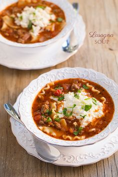 Do you like lasagna? If you answered yes, or even no, you're going to want to make this soup! This is definitely one of my new favorite soups. It tastes ju