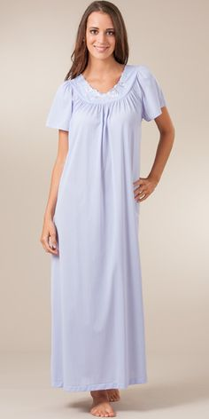 e94a6047138 Sale - Plus Shadowline Petals Flutter Sleeves Long Nightgown - Peri Good  Night Baby