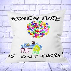Adventure is Out There quotes movie Pillow Cases