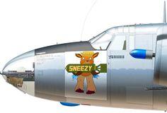 B-26G-5-MA 43-334250 B/N 05 'Sneezy' of the 34th BS, 17th BG