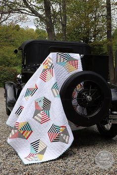 Fresh modern Quilt from the book IMPROV by Amy Fried