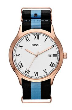 ansel' nylon strap watch, 41mm