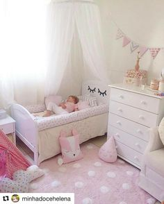 almofada Baby Room Design, Girl Bedroom Designs, Room Ideas Bedroom, Baby Bedroom, Baby Room Decor, Nursery Room, Girls Bedroom, Design Girl, Toddler Rooms