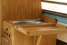 Bravington Bus All Things Timber Interior Mirrors, Van Dwelling, Camper Storage, Vw Vans, Camper Interior, Back Doors, Vw Camper, Airstream, Campervan