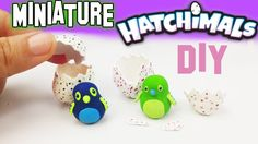 DIY MINIATURE HATCHIMALS Polymer Clay Tutorial   How to make dollhouse d...