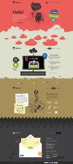Boy-Coy. A creative agency with creative website. #webdesign #design