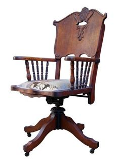 wild west antique bankers chair
