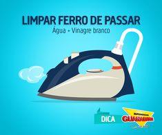 Veja o que é necessário para limpar o seu ferro de passar: http://www.supermercadosguanabara.com.br/dicas/ferro-de-passar-limpinho