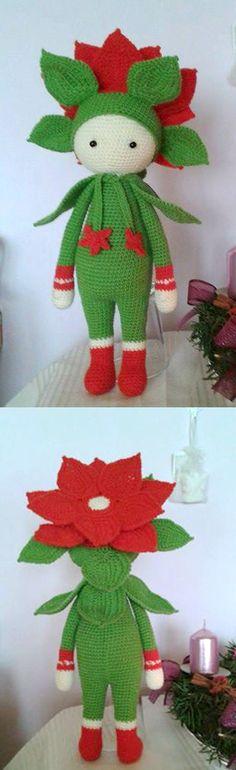 Christmas Star Kris Flower doll made by Naděnka P - crochet pattern by Zabbez