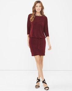 Dolman Sleeve Sweater-Knit Shimmer Dress