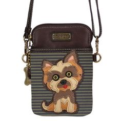 Roomy Pockets Series Cute Puppy Poodle Small Crossbody Bag Cell Phone Purse Wallet For Women Girls