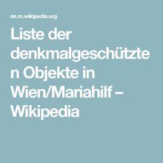 Liste der denkmalgeschützten Objekte in Wien/Mariahilf – Wikipedia Electrical Substation, Cornice, Objects