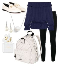 """""""School"""" by pitaa29 on Polyvore featuring Frame, MICHAEL Michael Kors, Marc Jacobs, Coach, Gucci, Belpearl and Chan Luu"""
