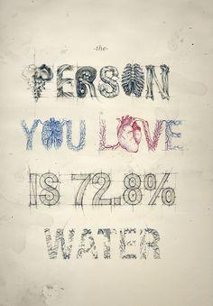 человек, которого вы любите, - это вода