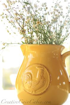 I want this Rooster Pitcher....Creative Cain Cabin always has so many neat things!