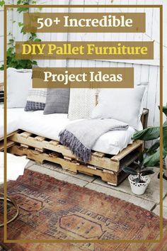 50+ Incredible DIY Pallet Furniture Project Ideas #furnitureprojectideas Diy Pallet Furniture, Furniture Projects, Wood Furniture, Furniture Design, Home Decor Inspiration, Decor Ideas, Modern Farmhouse, Project Ideas, Dining Room