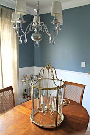 Burlap and Lace: $30 Dining Room Light Fixture