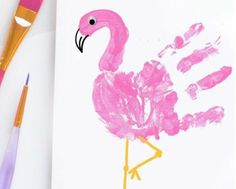 ▷ 1001 + tutoriels et idées d'activité manuelle primaire intéressante Main flament rose – Over 80 fun and easy to do primary manual activity ideas ♥ ️ The post ▷ 1001 + interesting primary manual activity tutorials and ideas appeared first on Best Pins. Kids Crafts, Daycare Crafts, Baby Crafts, Toddler Crafts, Preschool Crafts, Arts And Crafts, Creative Crafts, Baby Footprint Crafts, Infant Crafts