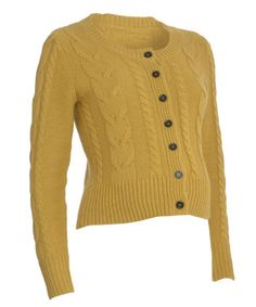 Blooming Marvellous Maternity Mustard Cable Cardigan