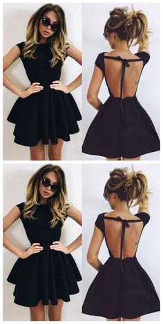 Backless Homecoming Dress,black Prom Dress,short Prom Dresses #Short Homecoming Dress#HomecomingDresses#Short PromDresses#Short CocktailDresses#HomecomingDresses