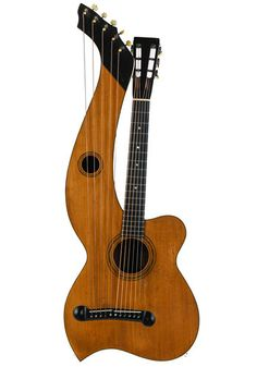 Larson Brothers Larson Brothers Dyer Harp Guitar Style 3 ca. 1908 Black Felt, Harp, Body Shapes, Brother, Instruments, Guitar, Style, Swag, Black Fedora