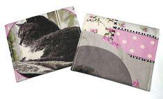 2pcs Cats wet pouch, wet bag for cloth pads, nursing pads, wipes...pad wrapper