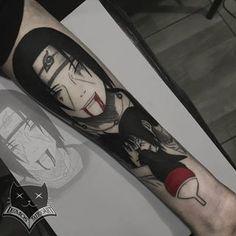 Pedro Lemos (@lemos.tattooart) · Instagram 照片和视频 Kanji Tattoo, Symbol Tattoos, Dope Tattoos, Anime Tattoos, Body Art Tattoos, Tattos, Naruto Shippuden Sasuke, Itachi Uchiha, Anime Naruto