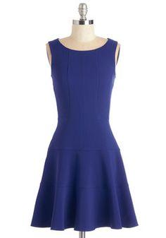 Prized Panelist Dress in Cobalt
