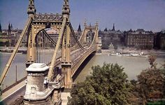Old Elizabeth bridge Vintage Architecture, Tower Bridge, Hungary, The Past, Bridges, Travelling