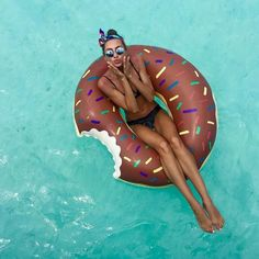 The ORIGINAL donut pool float: accept no imitations! At 4 feet wide, the BigMouth Inc frosted donut pool float looks good enough to eat. Summer Vibes, Summer Feeling, Summer Days, Summer Glow, Summer 2016, Summer Fun, Summer Of Love, Summer Beach, Summer Pictures