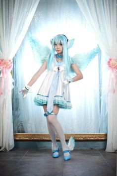 Vocaloid. Character: Hatsune Miku . Version: Magnet Angel. Cosplay Team. Spiralcats. Cosplayer: Tomia. **