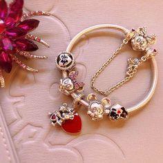 authentic pandora disney minnie bracelet with 6 pandora disney charms set Disney Pandora Bracelet, Pandora Charms Disney, Disney Jewelry, Pandora Bracelets, Pandora Jewelry, Sterling Silver Bracelets, Mickey Minnie Love, Cute Jewelry, Charm Jewelry