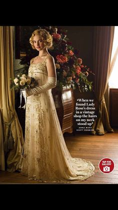 Lady Rose's wedding dress, beautiful. Downton Abbey season 5 episode 8