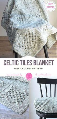 Celtic Tiles Blanket Free Crochet Pattern on Easywool.com #crochetfreepatternforbaby #crochetfreepatternforblanket #crochetbabyblanket #crochetstitch #crochet #crochetfreepatternsforlady #crochet #shellstitch #freecrochetPatterns #freecrochetPatterns #afghan #freecrochetPatternsforafghan #freecrochetPatternsforblanket #crochetstitch #crochet #crochetfreepatternsforhome #afghan #freecrochetPatternsforafghan #freecrochetPatternsforblanket #crochetstitch #crochet