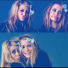 the olsen twins a really long time ago..still love em cause they were part of my childhood