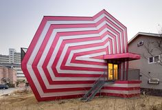 Lollipop House by architect Moon Hoon, in Giheung-Gu, South Korea.an umbrella, maybe Home Staging, Architecture Design, Building Architecture, Creative Architecture, Pavilion Architecture, Sustainable Architecture, Residential Architecture, Building Design, Amazing Architecture