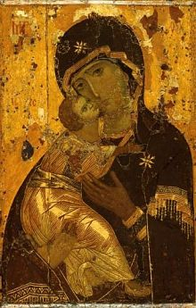 Our Lady of Vladimir is the oldest and most valuable religious icon in Russia, which is believed to be painted by St. Luke the Evangelist himself. Byzantine Icons, Byzantine Art, Russian Icons, Russian Art, Religious Icons, Religious Art, Luke The Evangelist, Mother Painting, Mothering Sunday