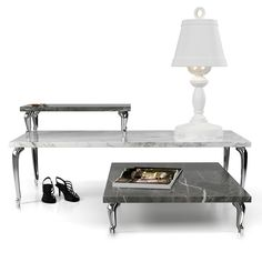Moooi Bassotti Coffee Table - Low - Grey Pietra