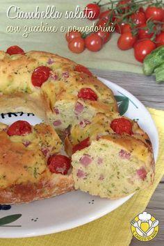verticale_ciambella salata con zucchine e pomodorino prosciutto e formaggio ricetta anche senza glutine il chicco di mais