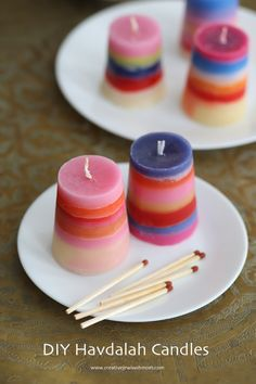 DIY-havdalah-candles-simple-kid's-craft Old Candles, Large Candles, Best Candles, Summer Camp Crafts, Camping Crafts, Summer Fun, Easy Crafts For Kids, Fun Crafts, Recycled Tin Cans