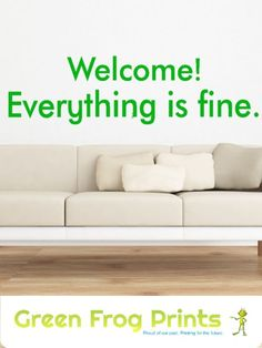 Welcome! Everything is fine! Inspired by the hit show The Good Place, this easy to install, and removable, wall decal looks identical to what's hanging in the NBC show when arriving at The Good Place! You can also order in smaller sizes and other colors if you choose. #thegoodplace #welcome #everythingisfine #goodplace #jianyu #thegoodplacefanart #thegoodplacesign #thegoodplacewall #thegoodplaceposters #janet #tvshows #tvshowgifts #wallquotes #walldecals #everythingisfinesign #welcomesign
