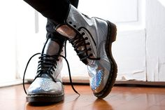 Holographic Doc Martens, Vintage | 26 Holographic Fashion Statements You Won't Be Able To Stop Staring At