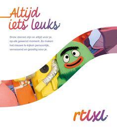 RTL XL - altijd iets leuks te kijken.  Merkstijl: strategisch design bureau Wunder.