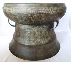 Antique Vietnamese Bronze Dong Son Drum