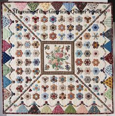 Dancing at Netherfield, 1996, a miniature quilt, 22 1/2 inches square, by JudyDay, American Quilters Society National Quilt Museum, from The Quilt Index