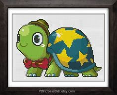 PDF Cross Stitch pattern by PDFcrossstitch Fuse Beads, Perler Beads, Turtle Crafts, Story Characters, Graph Paper, Christmas Knitting, Buy 1, Ninja Turtles, Fun Projects