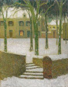Henri Le Sidaner. The Square, Nemours, 1930
