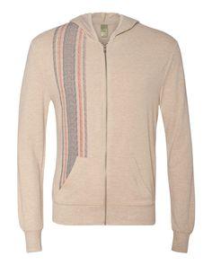 Alternative - Printed Eco-Jersey Hooded Full-Zip - 1970ea Grainsack/ Eco Stone