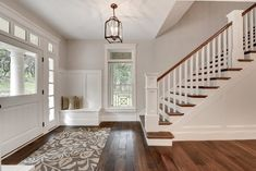 Foyer Entry - transitional - entry - minneapolis - Divine Custom Homes-wall color Benjamin Moore Edgecomb Gray
